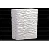 Ceramic Rectangular Vase LG Textured Gloss Finish White