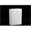Ceramic Rectangular Vase SM Textured Gloss Finish White