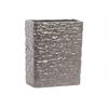 Ceramic Rectangular Vase LG Textured Gloss Finish Dark Taupe
