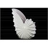 Ceramic Tall Seashell Shaped Flower Pot Gloss Finish White