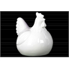 Ceramic Chicken Figurine LG Gloss Finish White