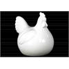 Ceramic Chicken Figurine SM Gloss Finish White
