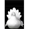 Ceramic Pigeon Figurine LG Gloss Finish White