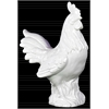 Ceramic Chicken Figurine on Base Gloss Finish White