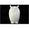 Porcelain Owl Figurine LG Gloss Finish White