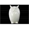 Porcelain Owl Figurine LG Gloss Finish White