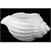 Porcelain Conch Shell Sculpture Gloss Finish White