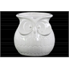 Ceramic Owl Flower Pot Gloss Finish White