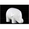 Ceramic Standing Elephant Figurine SM Gloss Finish White