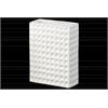 Ceramic Tall Rectangular Vase Dimpled Finish Gloss Finish White
