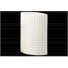 Ceramic Elliptical Vase Dimpled Gloss Finish White