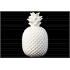 Ceramic Round Pineapple Figurine Dimpled  Gloss Finish White