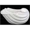 Ceramic Clam Seashell Valve Sculpture Gloss Finish White