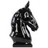 Ceramic Horse Bust on Base Gloss Finish Black