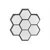 Metal Shelf Polyhexagonal with Mesh Backing and 7 Shelves Coated Finish Black