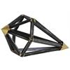 Metal Geometric Diamond Sculpture Tarnished Finish Black