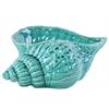 Ceramic Conch Seashell Sculpture Gloss Finish Turquoise