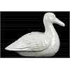 Ceramic Sitting Goose Figurine Gloss Finish White