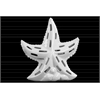 Ceramic Sea Star Figurine with Cutout Design on Shell Base LG Gloss Finish White