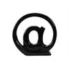 "Ceramic Alphabet Tabletop Decor Symbol ""@"" Gloss Finish Black"