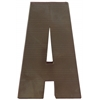 "Metal Alphabet Wall Decor Letter ""A"" Coated Finish Espresso Brown"