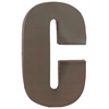 "Metal Alphabet Wall Decor Letter ""C"" Coated Finish Espresso Brown"
