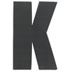 "Metal Alphabet Wall Decor Letter ""K"" Coated Finish Dark Gray"