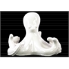 Ceramic Octopus Figurine Gloss Finish Off White
