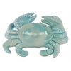 Ceramic Crab Figurine Gloss Finish Light Blue