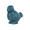 Ceramic Bird Figurine Looking Left Gloss Finish Turquoise
