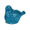 Ceramic Bird Figurine with Wings Up LG Gloss Finish Turquoise