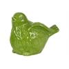 Ceramic Bird Figurine with Wings Up LG Gloss Finish Green