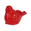 Ceramic Bird Figurine with Wings Up LG Gloss Finish Red