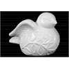 Ceramic Bird Figurine with Wings Up SM Gloss Finish White