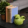 Ceramic Bird Figurine with Wings Up SM Gloss Finish Green
