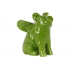 Ceramic Sitting Winged Pig Figurine Gloss Finish Green