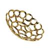 Ceramic Round Concave Tray with Perforated and Chainlink Design LG Polished Chrome Finish Gold