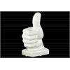 Porcelain Thumbs Up Sculpture on Bass Gloss Finish White