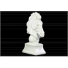 Porcelain Horse Head on Trapezoidal Pedestal Gloss Finish White