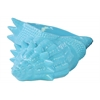 Ceramic Conch Seashell Sculpture Gloss Finish Blue