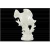 Ceramic Fish Figurine on Seaweed Pedestal Gloss Finish White