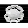 Ceramic Crab Figurine LG Gloss Finish White