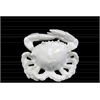 Ceramic Crab Figurine SM Gloss Finish White