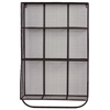 Metal Wall Shelf with 9 Shelves, Hanger Bar, Mesh Backing and Sides Coated Finish Black