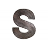 "Metal Alphabet Wall Decor Letter ""S"" Galvanized Finish Bronze"