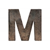 "Metal Alphabet Wall Decor Letter ""M"" Galvanized Finish Bronze"