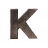 "Metal Alphabet Wall Decor Letter ""K"" Galvanized Finish Bronze"