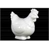 Ceramic Hen Figurine Gloss Finish White