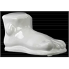 Ceramic Foot Sculpture Gloss Finish White