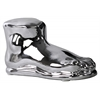Ceramic Foot Sculpture Polished Chrome Finish Silver